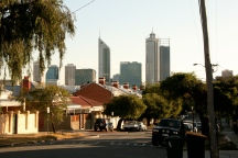 View of the Perth skyline from the property