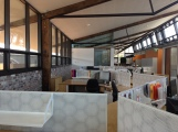 View across the office areas. the furniture and fit-out are zero VOC and free of red-list chemicals.