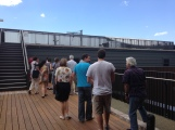 Standing on the roof of the SBRC with the rest of the tour group.